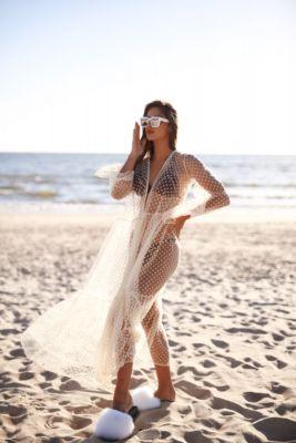 Beach dress in beige