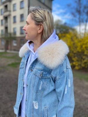 Collar from fox beige