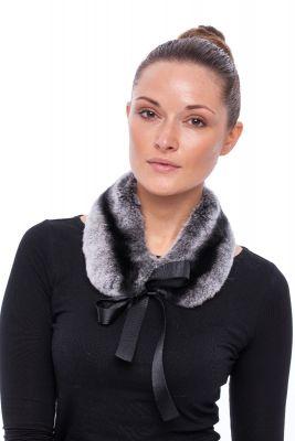 Mini Collar from rabbit REX grey Chinchilla