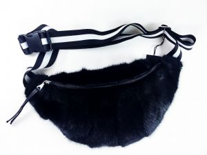 Bag from mink fur