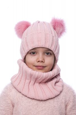 Wool snood pink