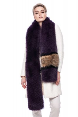 Perforated scarf fox purple