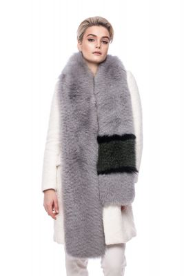 Perforated scarf fox grey