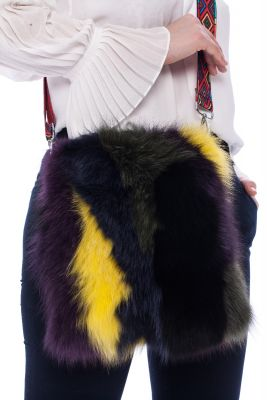 Bag from fox fur (colourful)