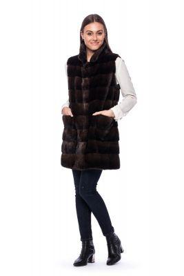 Long Vest of Brown mink