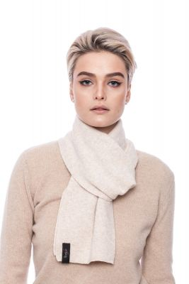 Cashmere and wool scarf beige