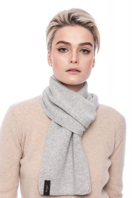 Cashmere and wool scarf grey