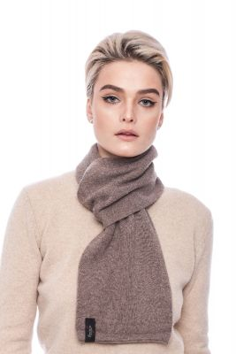 Cashmere and wool scarf brown