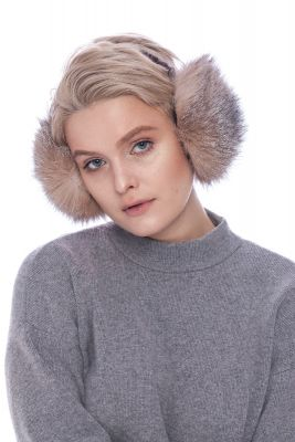 Earmuffs golden silver blue