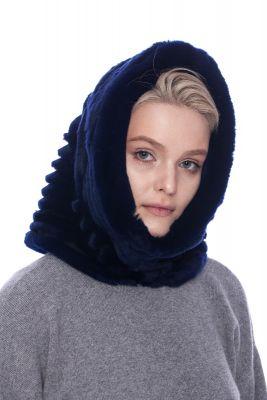 Hood with chinchilla blue REX fur