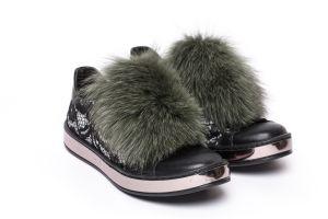 Shoe accessory fox green