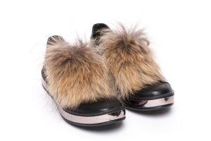 Shoe accessory fox raccoon