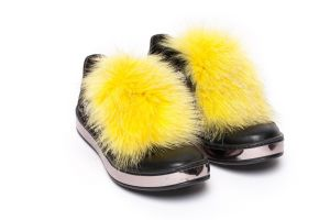 Shoe accessory fox yellow
