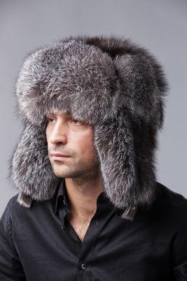 "Hat ""Ushanka"" Blue frost fox"