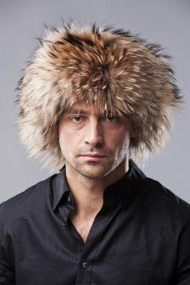 """Hat """"Ushanka"""" with Raccoon"""