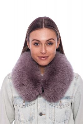 Collar from fox fur dusty rose