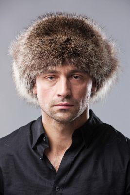 "Hat ""Ushanka"" with Canadian raccoon"