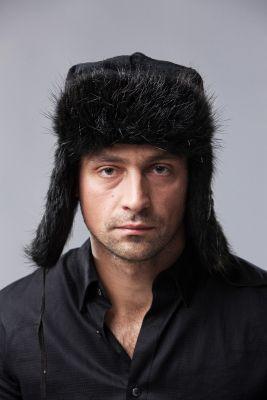 """Hat """"Ushanka"""" beaver black"""