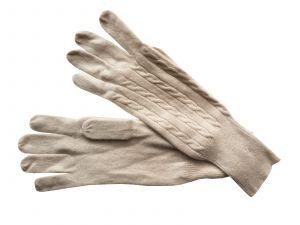 Cashmere gloves beige