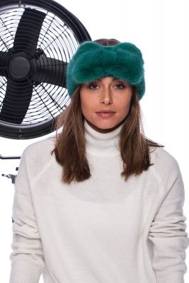 Mink band in green