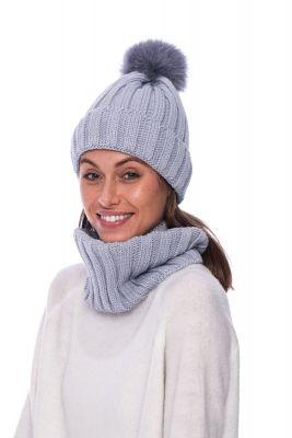 Wool snood grey