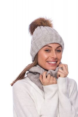 Wool snood beige