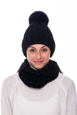 Wool snood black