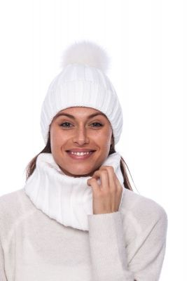 Wool snood white