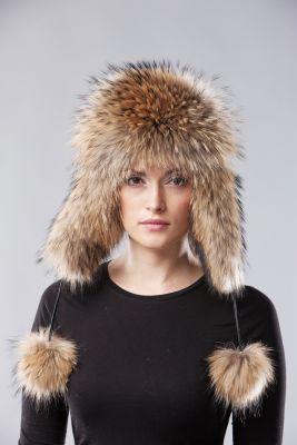 Ushanka hat raccoon