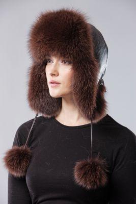 Ushanka hat brown