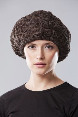 Caracul beret brown