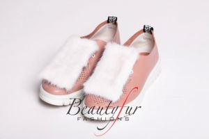 Shoe accessory  mink WHITE