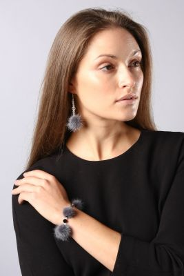 Earrings long black