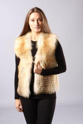 Classic vest of gold island fox striped