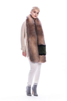 Perforated scarf fox golden blue fur