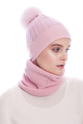 Cashmere snood pink