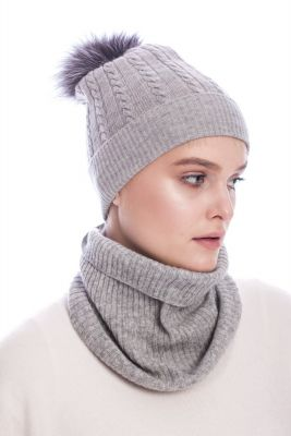 Cashmere snood grey