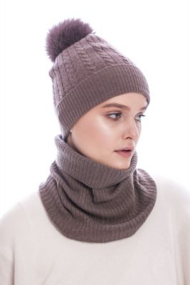 Cashmere snood brown
