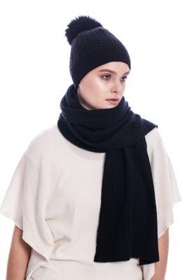 Cashmere scarf black