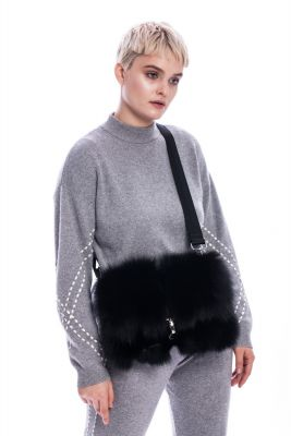 Bag from fox fur (black)
