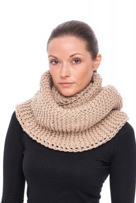 Wool hood/snood (beige)