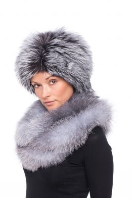 Tablet Hat fox Blue silver