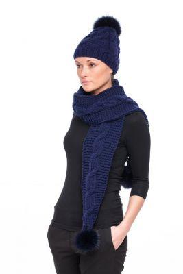 Wool blue scarf