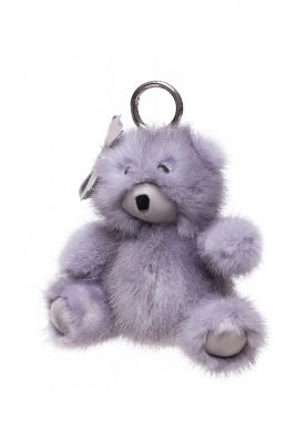 Fur pendant Teddy girl grey