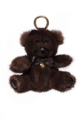Fur pendant Teddy girl