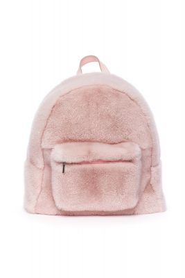 Backpack from mink fur  (pink)