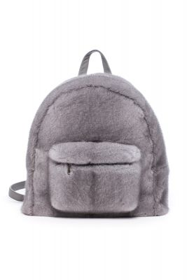 Backpack from mink fur (grey)