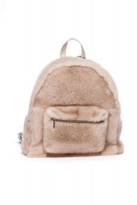 Backpack from mink fur  (beige)