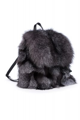 Backpack from fox fur