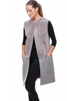 Lamb and textile Vest grey